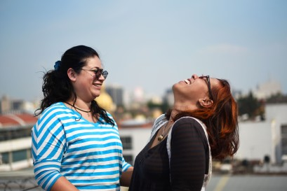 Mexico DF – Laughter is the glue to a relationship. When I met them Daniela & Liz were on a bit of a break but still together. They got married because one of them is from Venezuela and that was her only option to stay in Mexico, but they do love each other.