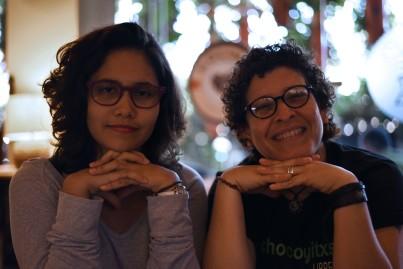 Nicaragua, Managua – Gaby y Helen being serious