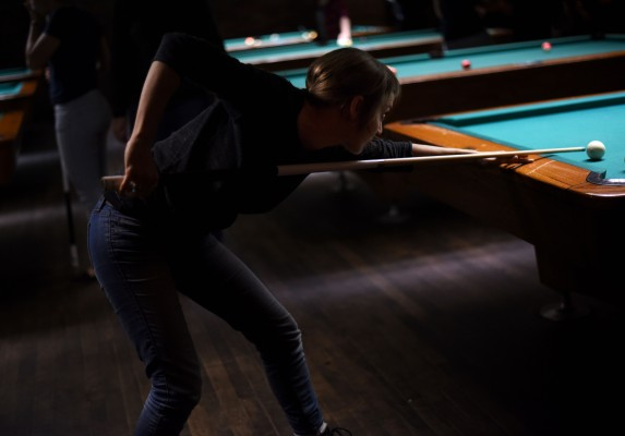 Montréal –Play pool at LSTW night at Fitzroy