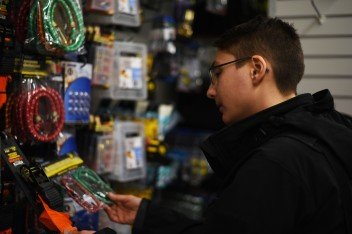 """Montréal – Lesbians like their home improvement shopping, with Marianne. Marianne is French, works in the film industry (ACs and directs), and has been in Montréal for ten years now. She doesn't hesitate one second when I ask her which between Paris and Montréal is gayer: of course it's Montréal! Like most of the Paris lesbians I talked to she says there are some parts of Paris where she wouldn't be comfortable holding her girlfriend's hand but in Montréal nowhere would she feel that way, even in the """"sketchier"""" areas. She has me daydreaming talking about the legendary Parisian lesbian club Pulp, now closed, which I never had the chance to experience. She is not a fan of the events organized by the LSTW team because she thinks they're more for what she calls """"office lesbians"""" i.e. lesbians with more money, and who vote more conservative. She likes the more """"underground"""" queer scene of Montréal, she mentioned the """"Pompe"""" parties. All in all she thinks if lesbian nightlife is so inexistent it's the lesbians' own fault, we need to be more proactive!"""