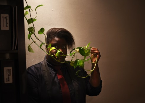 Montréal –A teeny plant like that cannot hide how awesome Vanessa is