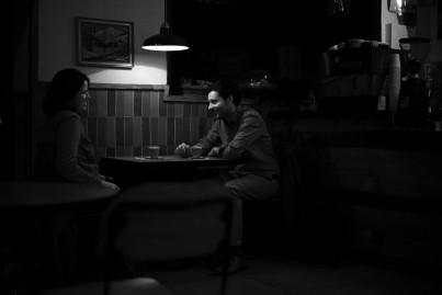 Intimate moment at Cardinal Cafe