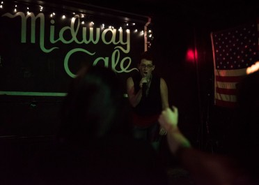 Boston, USA – Stacey at Queeraoke