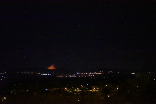 Managua – Volcano making itself seen!