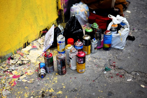 Ciudad Guatemala – Street art supplies