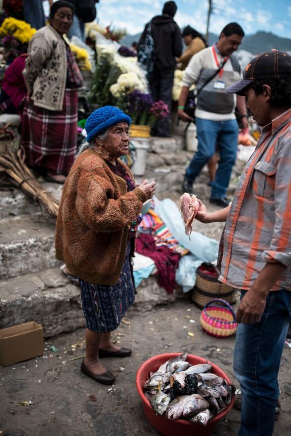 Chichicastenango – Fish fight