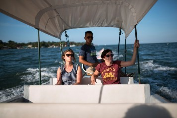 Boating back from Livingston