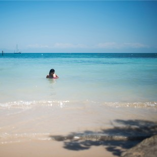 Utila Town beach