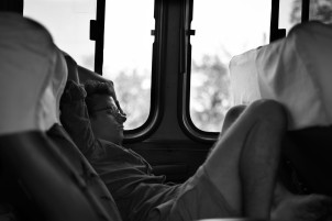 On the way to La Ceiba – You better be comfortable if you're gonna be stuck in a broken down bus for 5 hours!