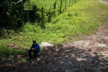 On the way to La Ceiba – Bus broke down