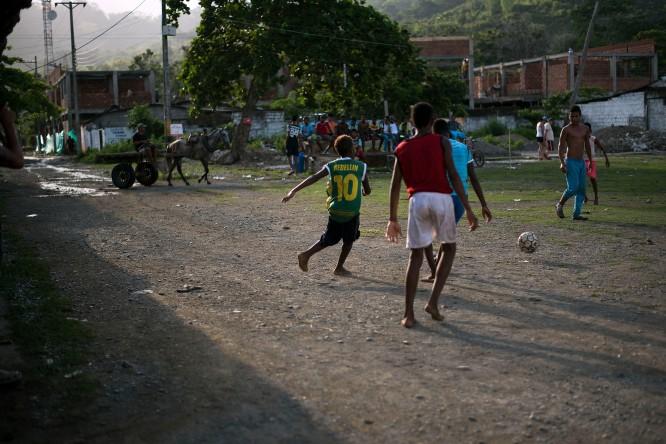 Capurganá – The main square doubles as a football field