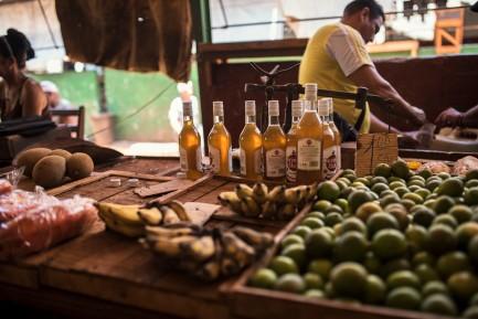 Food market, rhum included.