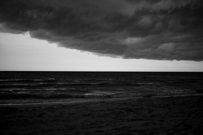 Stormy weather at the beach