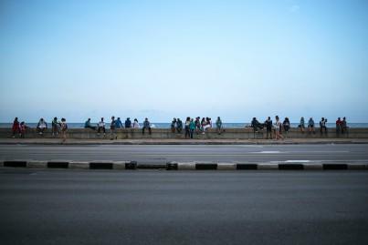 Malecón crowd