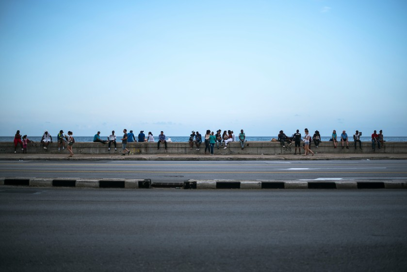Malecón crowd